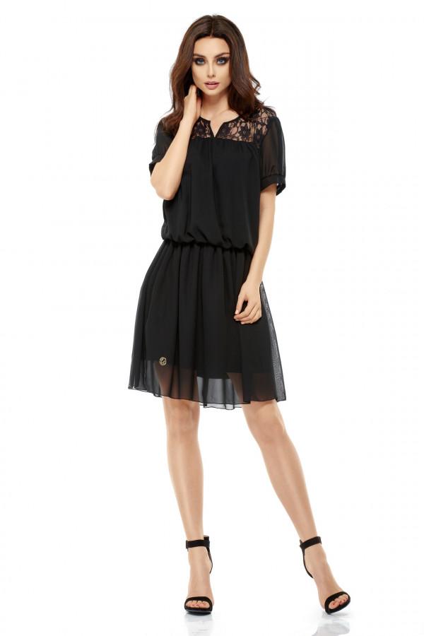 Szyfonowa sukienka z krótkim rękawem