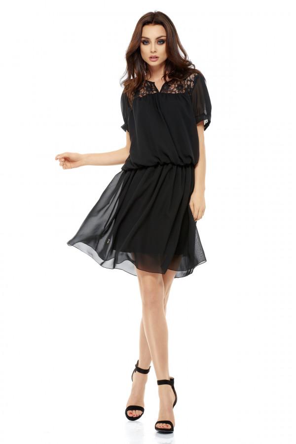 Szyfonowa sukienka z krótkim rękawem 1