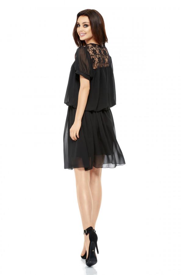 Szyfonowa sukienka z krótkim rękawem 3