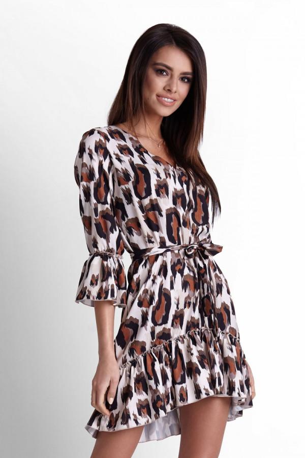 Sukienka w panterkę DORITA 3