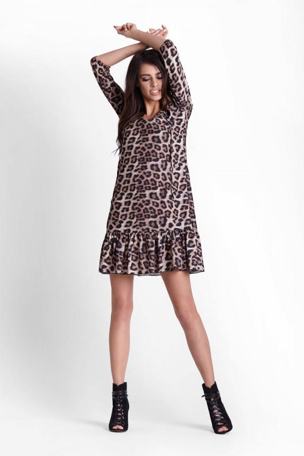 Sukienka w panterkę RAMIRA 4