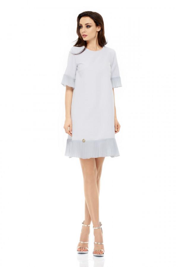 Sukienka z plisowaną falbanką JULIA