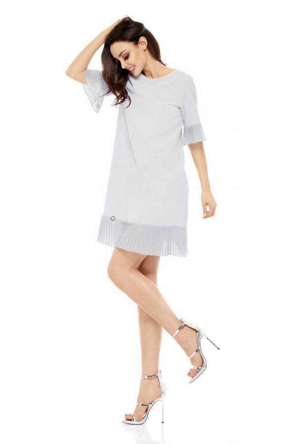 Sukienka z plisowaną falbanką JULIA 1