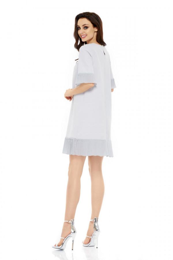 Sukienka z plisowaną falbanką JULIA 2