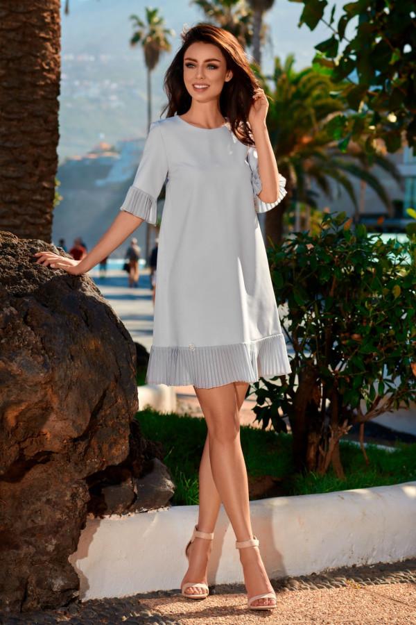 Sukienka z plisowaną falbanką JULIA 3