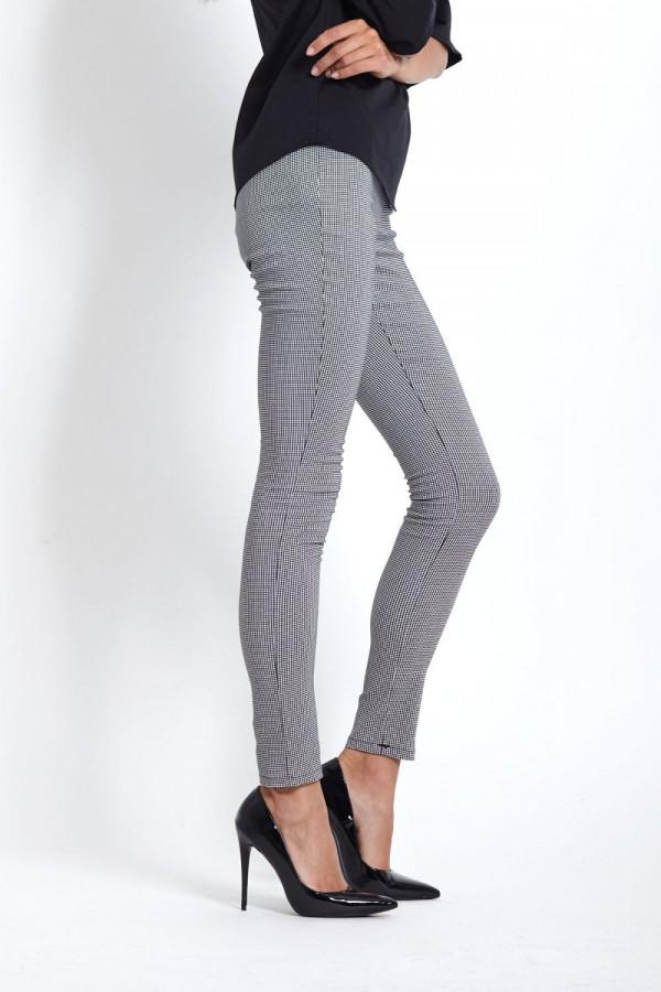 Eleganckie legginsy w pepitkę SAVA 4