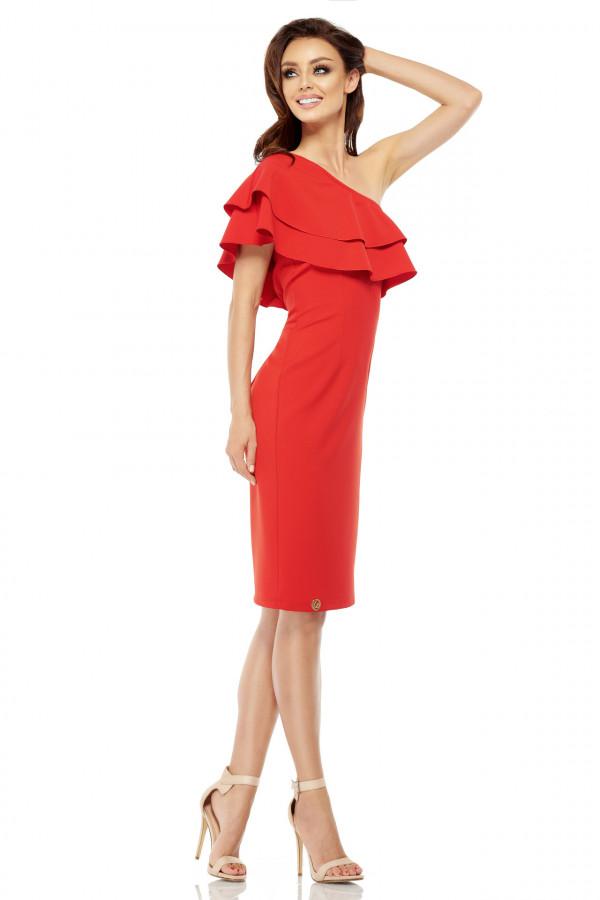 Sukienka na jedno ramię MIGEL 1