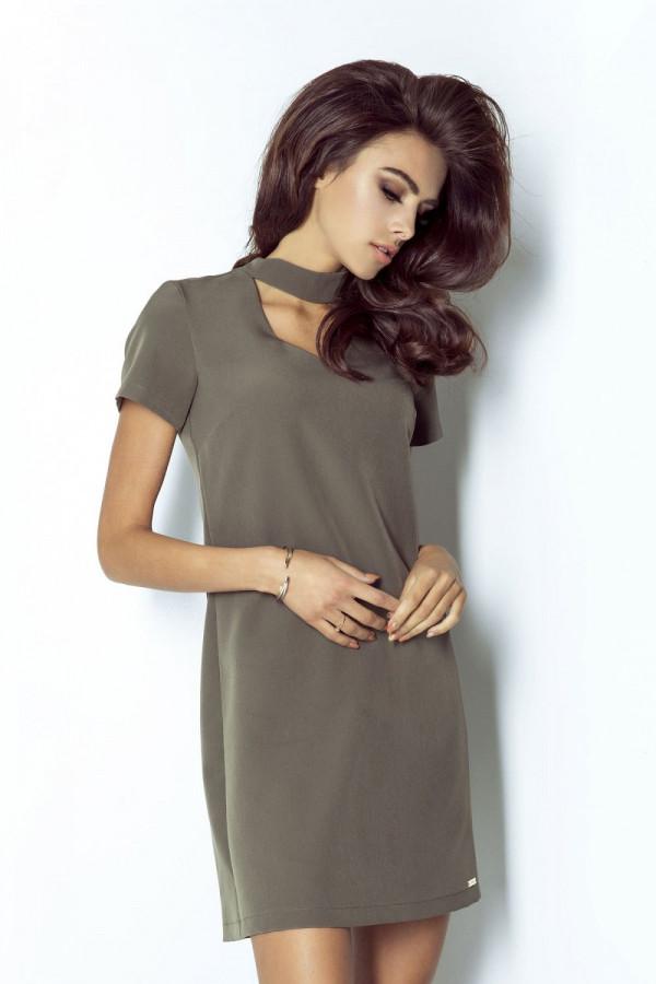 Klasyczna sukienka z chokerem ELENA 3
