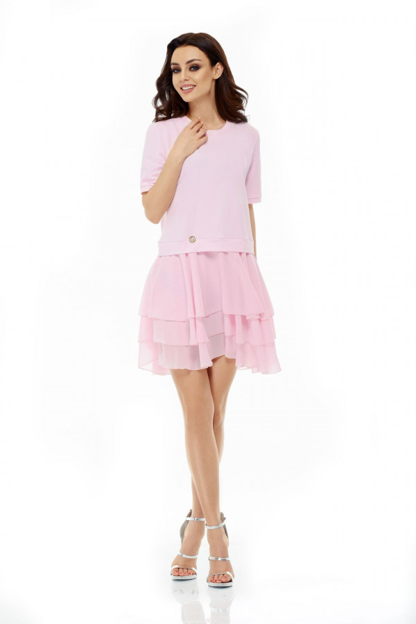 Sukienka mini z falbanami HELEN