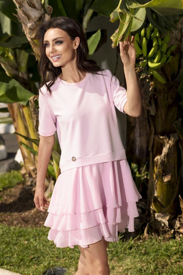 Sukienka mini z falbanami HELEN 3