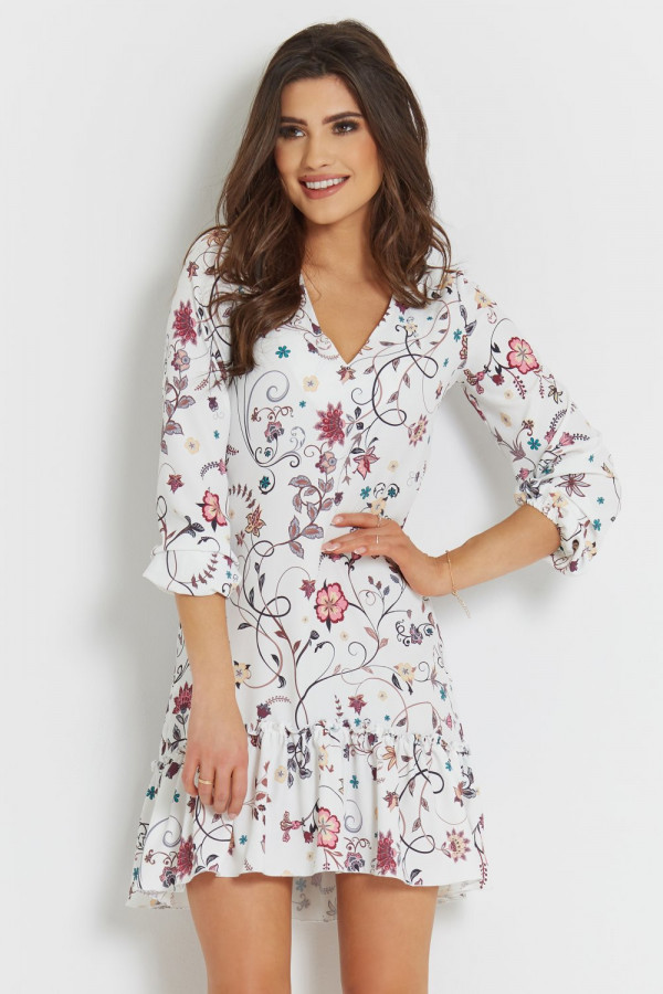 Sukienka we wzory z falbaną IRINA 3