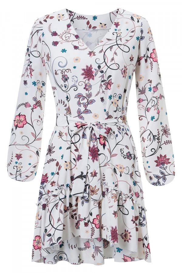 Sukienka we wzory z falbaną IRINA 5