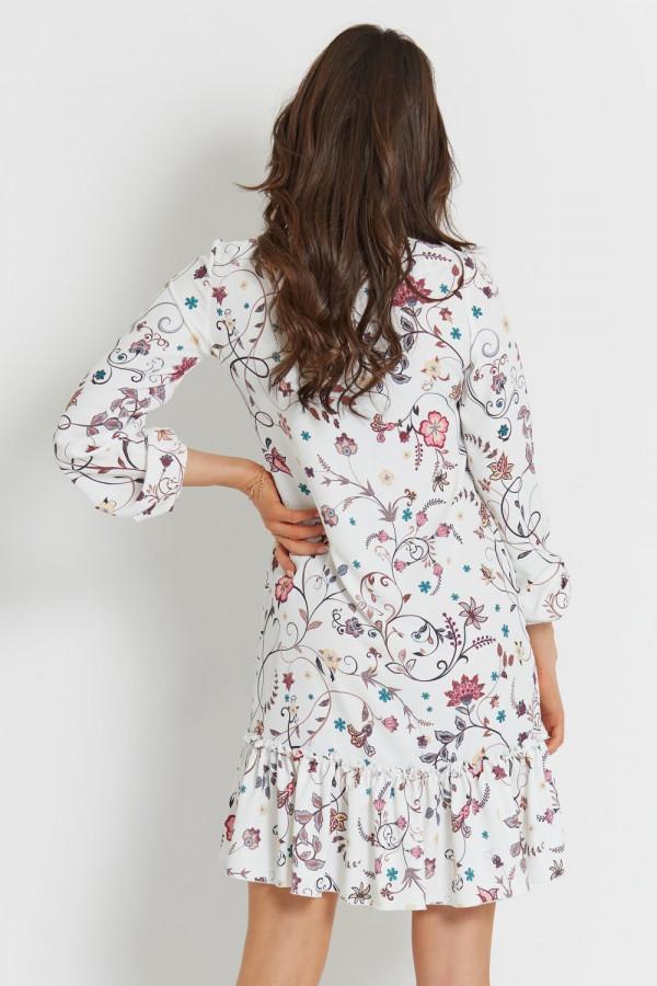 Sukienka we wzory z falbaną IRINA 8
