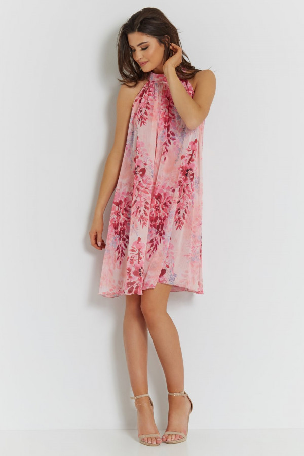 Sukienka szyfonowa ze stójką LIV 4