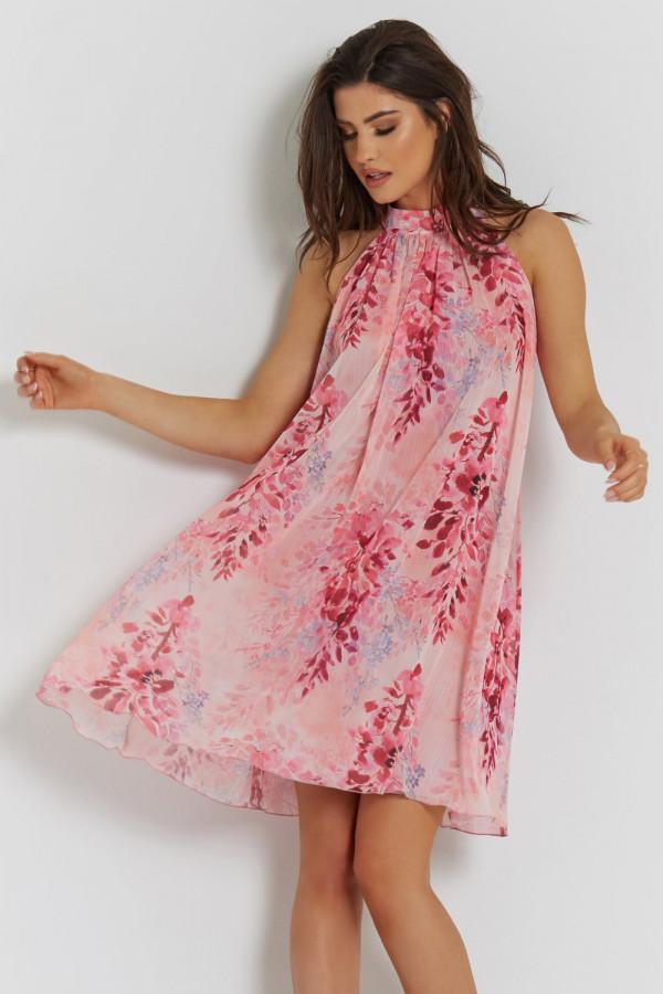 Sukienka szyfonowa ze stójką LIV 5