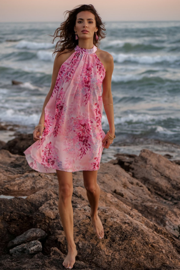 Sukienka szyfonowa ze stójką LIV 2