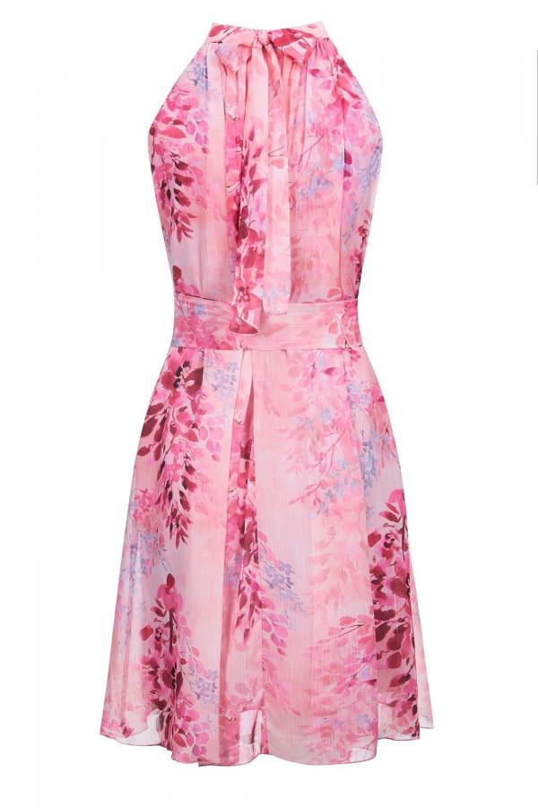 Sukienka szyfonowa ze stójką LIV 6