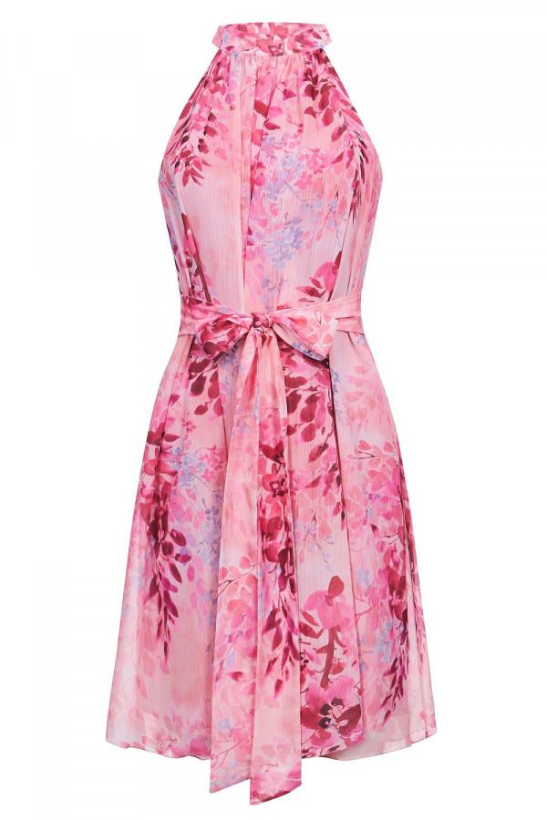 Sukienka szyfonowa ze stójką LIV 7