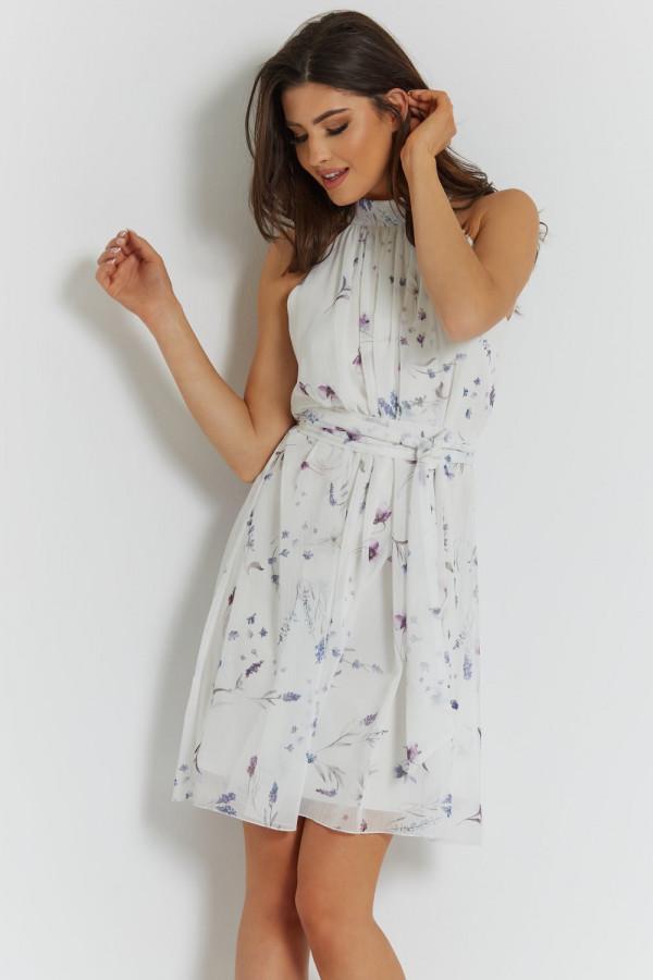 Sukienka szyfonowa ze stójką LIV