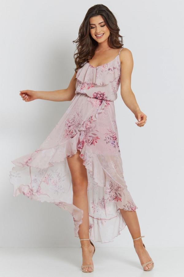 Asymetryczna sukienka w kwiaty LUNA
