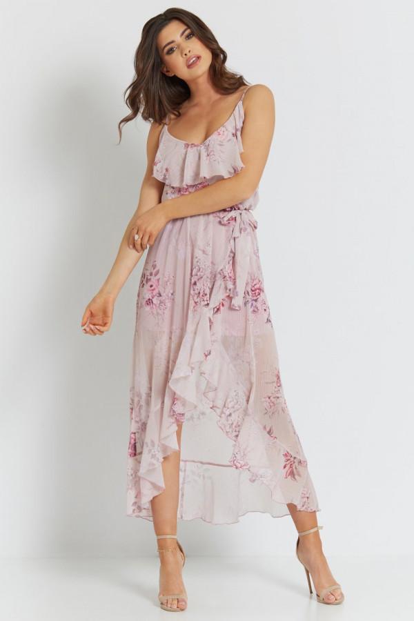 Asymetryczna sukienka w kwiaty LUNA 1