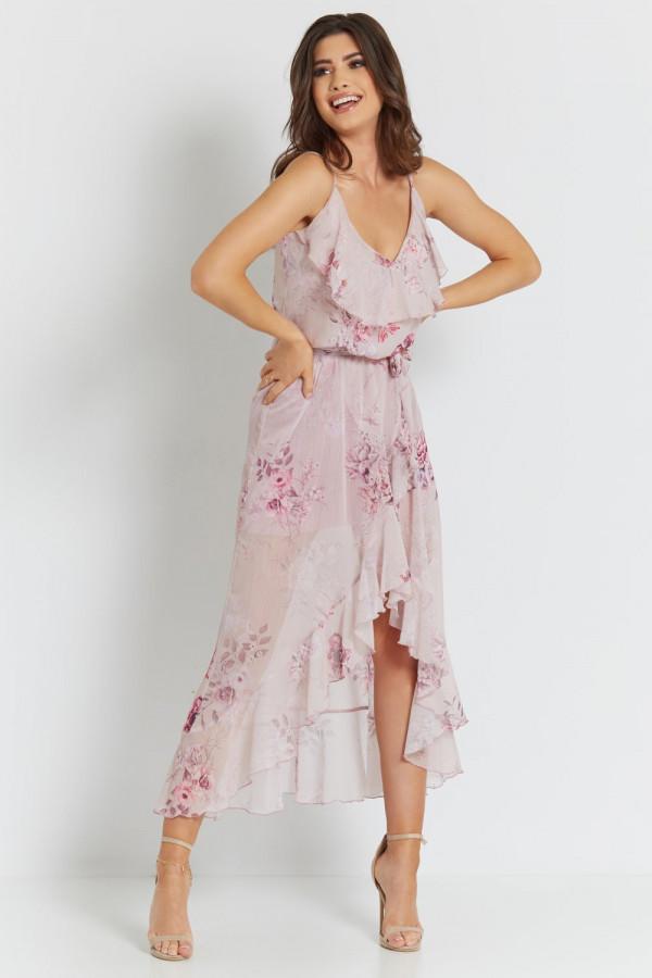 Asymetryczna sukienka w kwiaty LUNA 2