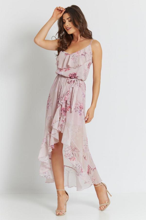 Asymetryczna sukienka w kwiaty LUNA 3
