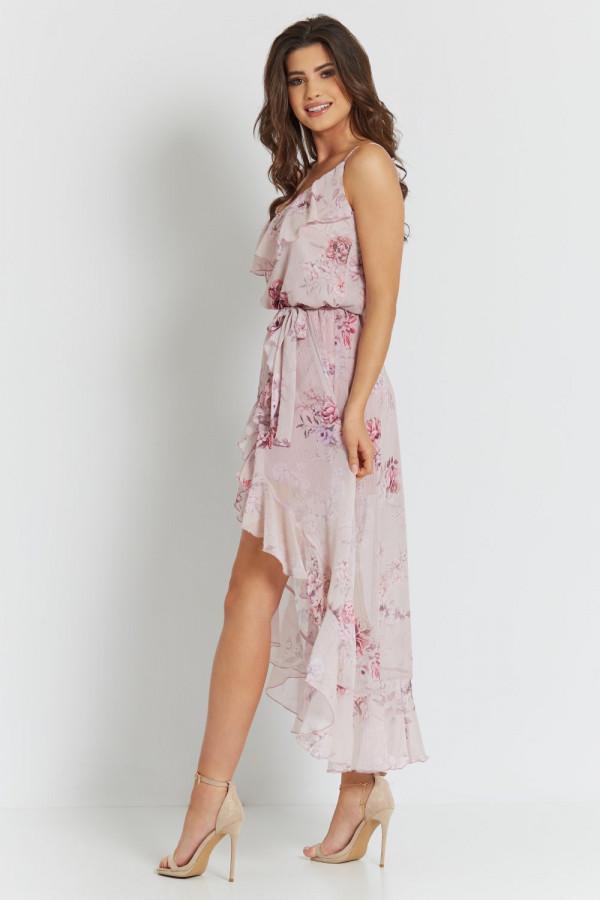 Asymetryczna sukienka w kwiaty LUNA 4