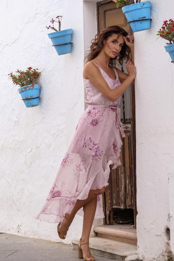 Asymetryczna sukienka w kwiaty LUNA 5