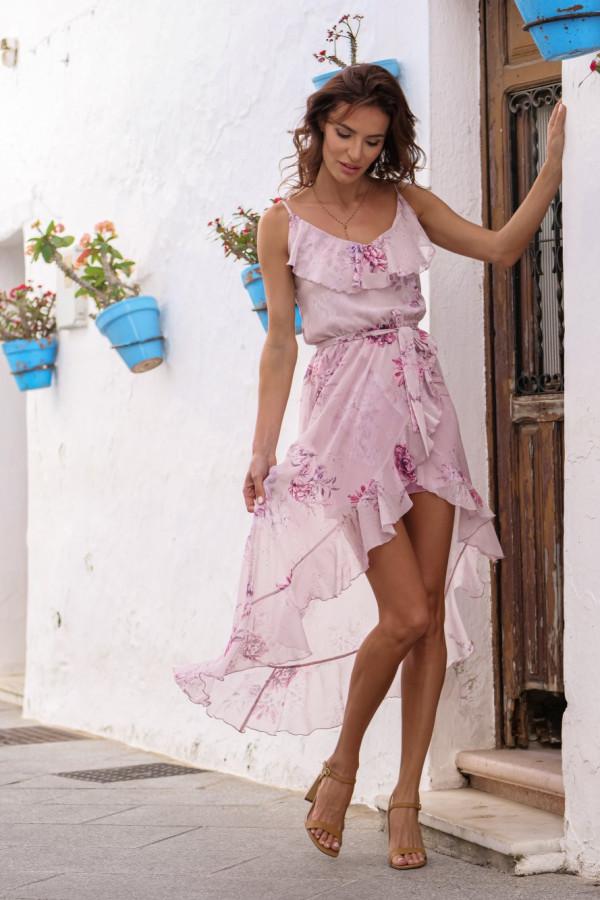 Asymetryczna sukienka w kwiaty LUNA 6