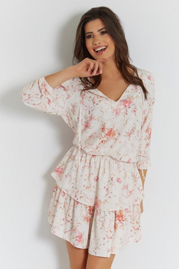 Sukienka w kwiatowy wzór CHLOE 1