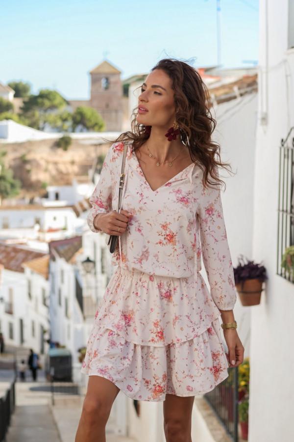 Sukienka w kwiatowy wzór CHLOE 3