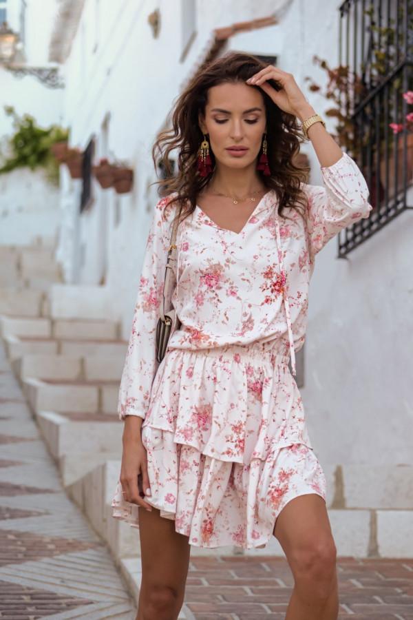Sukienka w kwiatowy wzór CHLOE 4