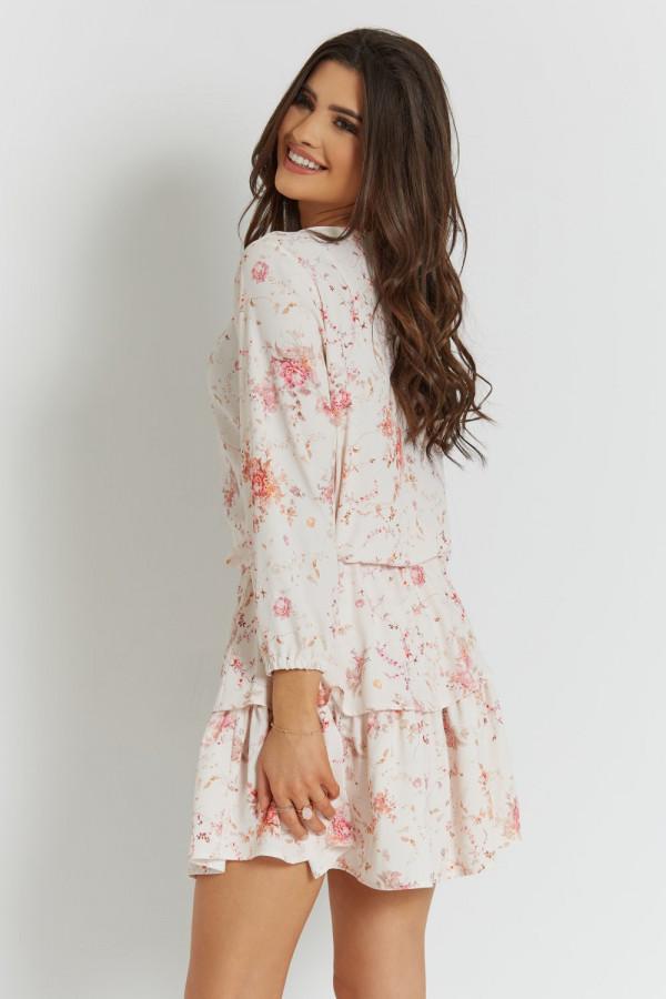 Sukienka w kwiatowy wzór CHLOE 5