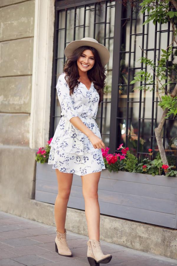 Sukienka w kwiaty SARA 3