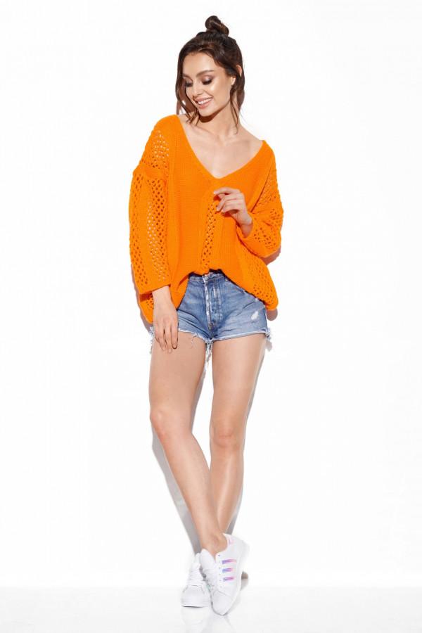 Ażurowy sweter z wiązaniem BRIANNA