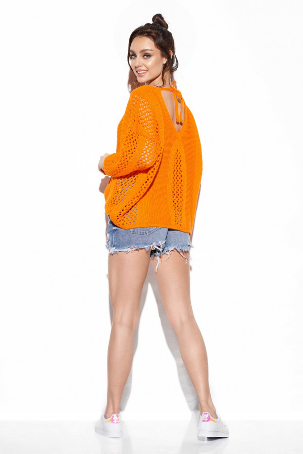 Ażurowy sweter z wiązaniem BRIANNA 2