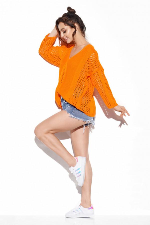 Ażurowy sweter z wiązaniem BRIANNA 1