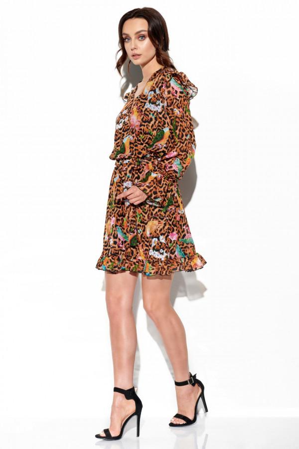 Szyfonowa sukienka we wzory HOLLY 1