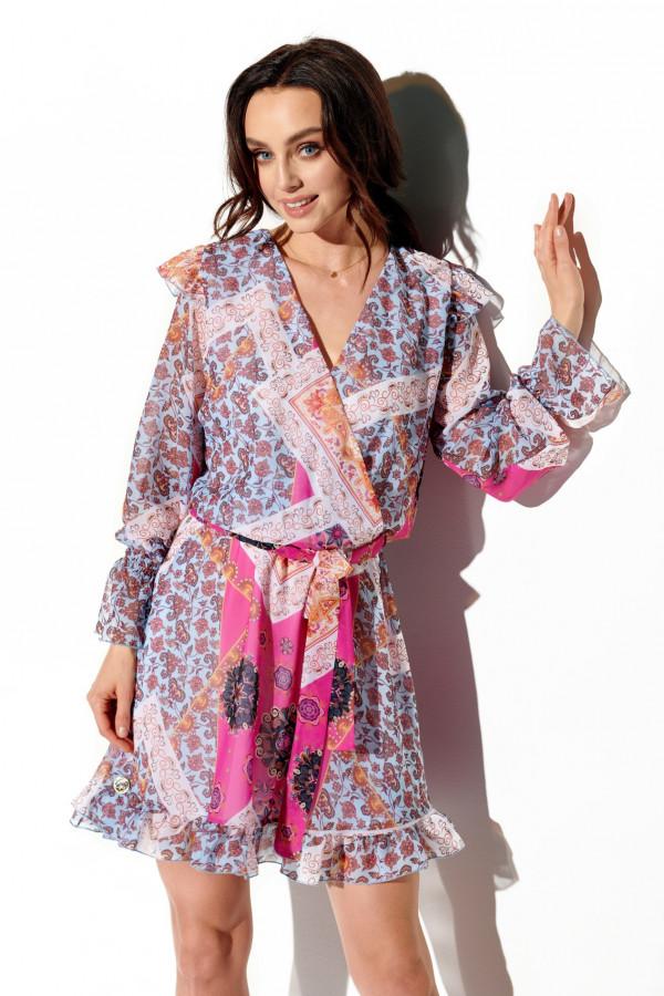 Szyfonowa sukienka we wzory HOLLY 4