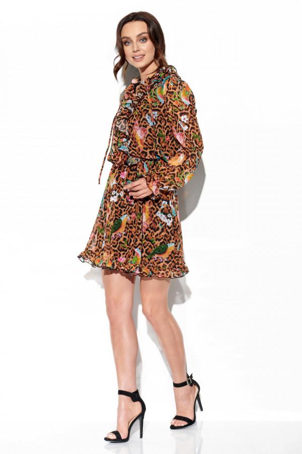 Sukienka z jedwabiem i żabotem GABRIELLE 1
