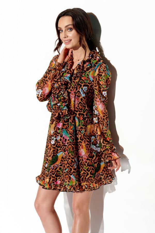Sukienka z jedwabiem i żabotem GABRIELLE 2