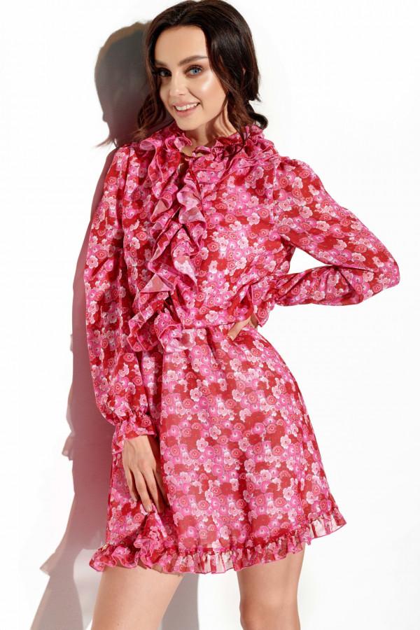 Sukienka z jedwabiem i żabotem GABRIELLE 3