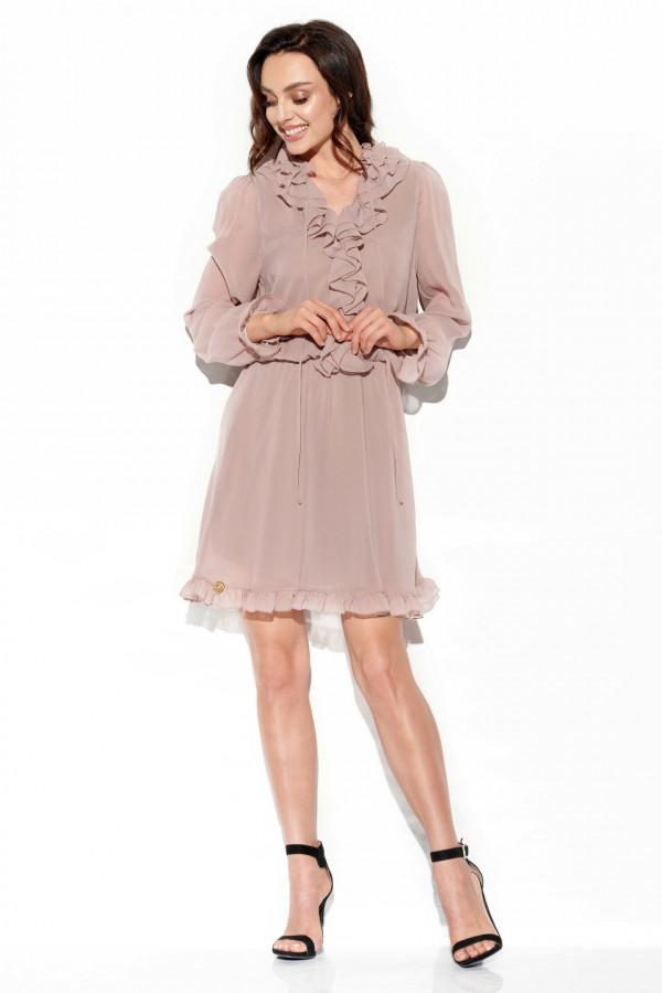 Sukienka z jedwabiem i żabotem GABRIELLE