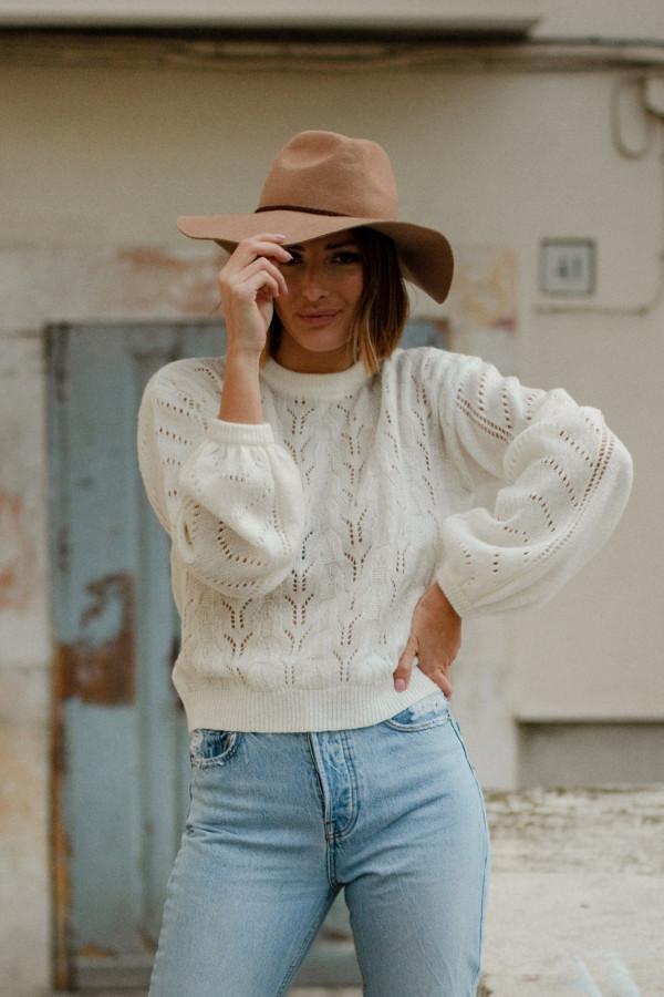 Sweter ażurowy MELODY 1