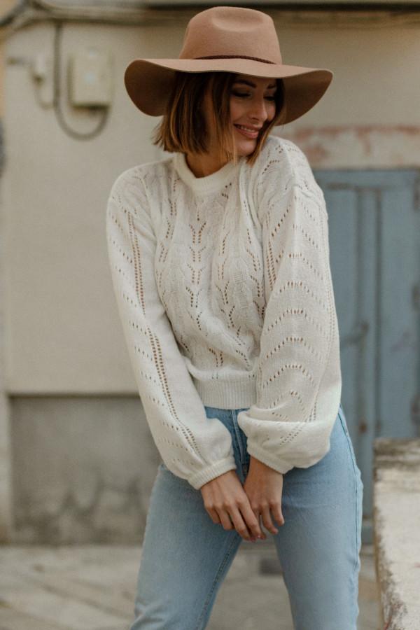 Sweter ażurowy MELODY