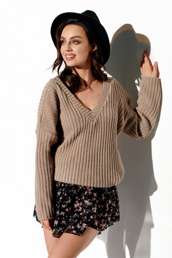 Sweter z dekoltem ZOYA