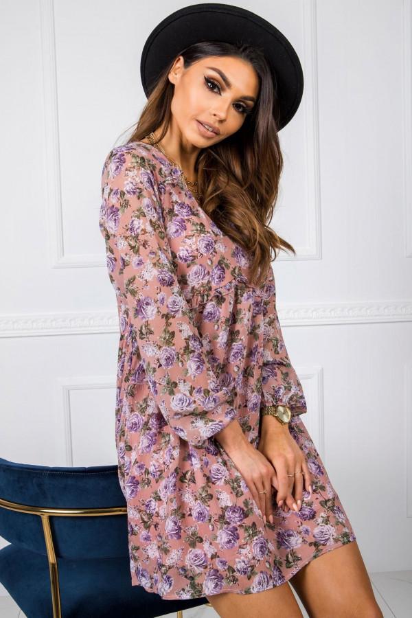 Sukienka w róże MIRANDA 2