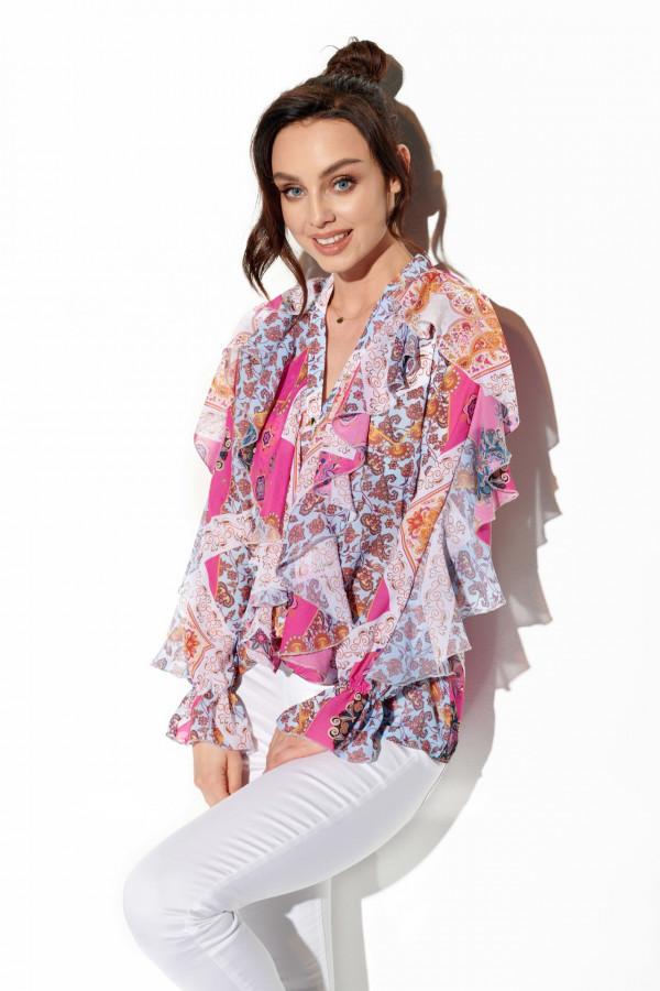 Szyfonowa koszula z falbanami SUSAN 3