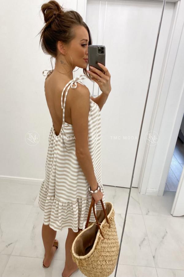 Sukienka z wiązanymi ramiączkami LIA 1